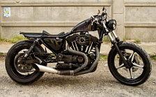 Wallpapers custom motorcycle Iron Pirate Garage Black Pearl Harley Davidson Sportster 1200 2016