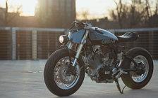 Wallpapers custom motorcycle One-Up Moto Garage One-Up 2017 Yamaha Virago XV500 1983